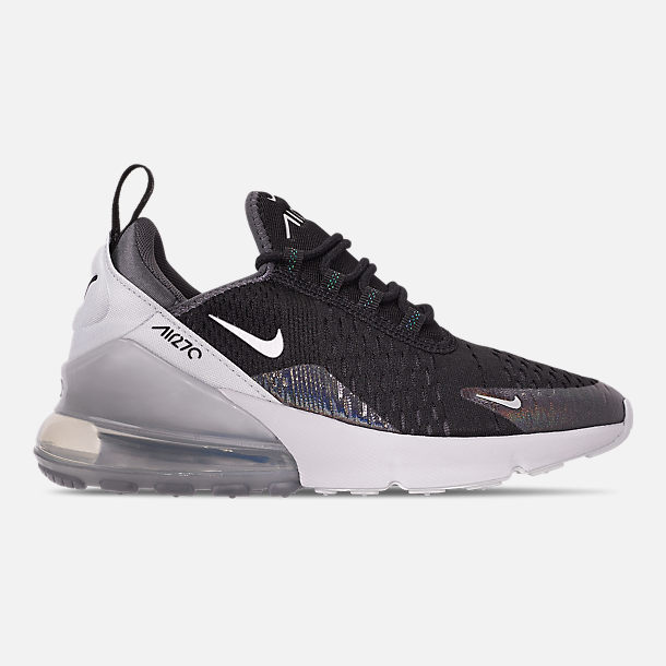 Right view of Boys' Big Kids' Nike Air Max 270 Y2K Casual Shoes in Black/Metallic Silver/Dark Grey