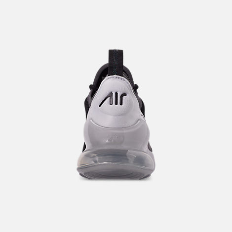 Back view of Boys' Big Kids' Nike Air Max 270 Y2K Casual Shoes in Black/Metallic Silver/Dark Grey