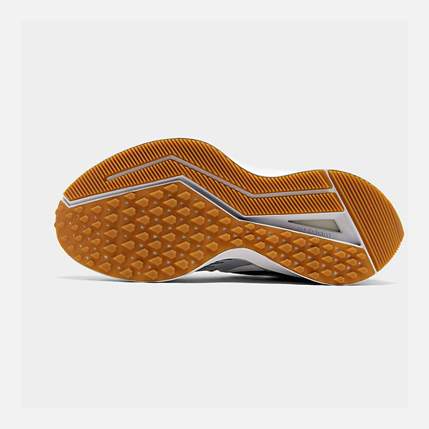 Bottom view of Men's Nike Air Zoom Winflo 6 SE Running Shoes in Black/White/Gum Light Brown/Pure Platinum
