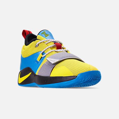 b88b19deb8b967 Three Quarter view of Boys  Big Kids  Nike PG 2.5 Basketball Shoes in Opti