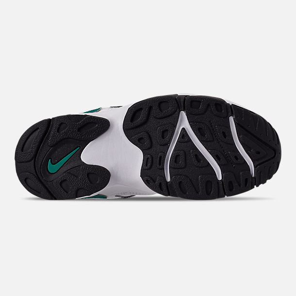 Bottom view of Boys' Big Kids' Nike Air Speed Turf Training Shoes in White/Black/Fresh Water