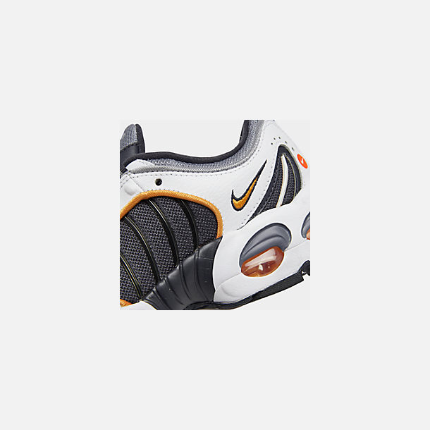 Front view of Boys' Big Kids' Nike Air Max Tailwind IV Casual Shoes in Metro Grey/Resin/White/Machine Grey