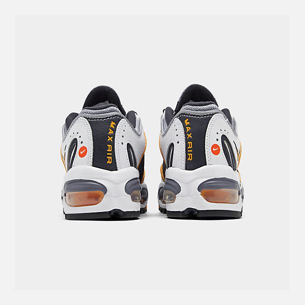 Left view of Boys' Big Kids' Nike Air Max Tailwind IV Casual Shoes in Metro Grey/Resin/White/Machine Grey