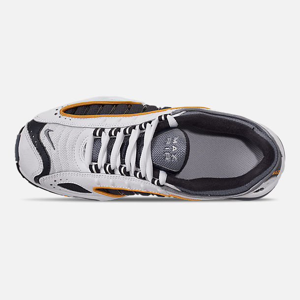 Top view of Boys' Big Kids' Nike Air Max Tailwind IV Casual Shoes in Metro Grey/Resin/White/Machine Grey