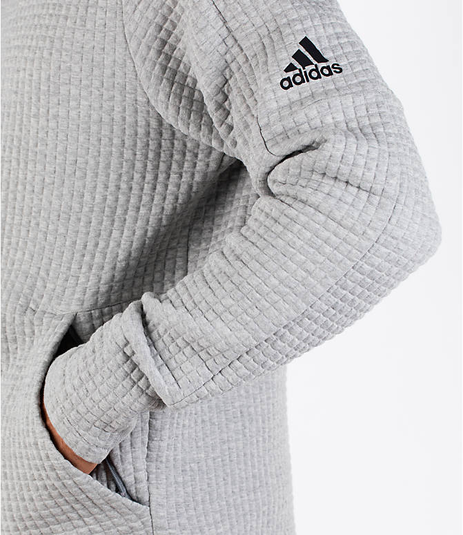 Detail 1 view of Men's adidas Squad ID Hoodie in Medium Grey Heather