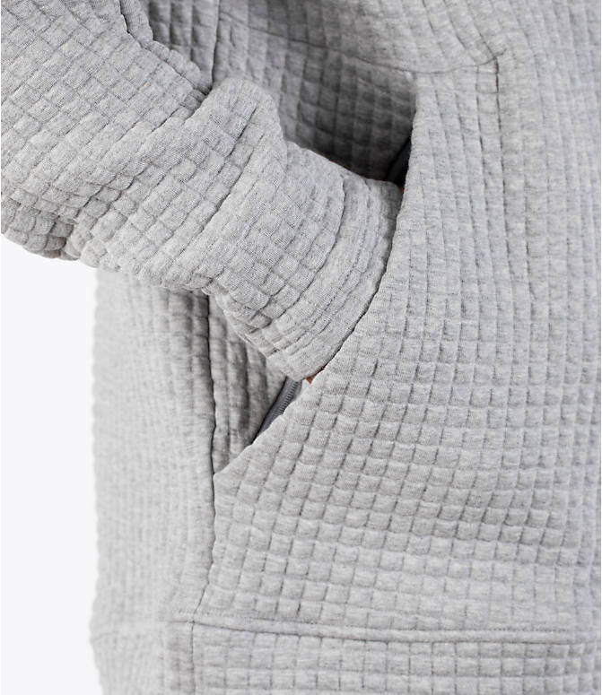 Detail 2 view of Men's adidas Squad ID Hoodie in Medium Grey Heather