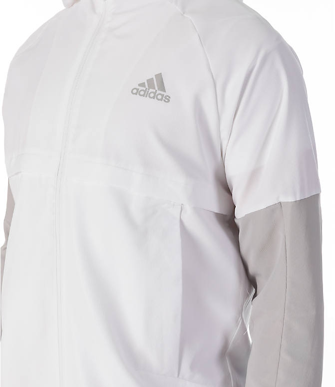 Detail 1 view of Men's adidas Sport ID Wind Jacket in White/Grey