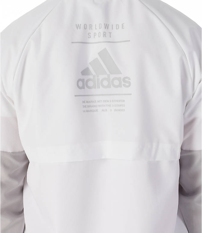 Detail 2 view of Men's adidas Sport ID Wind Jacket in White/Grey