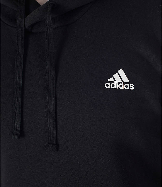 Detail 1 view of Men's adidas Badge of Sport Hoodie in Black/White