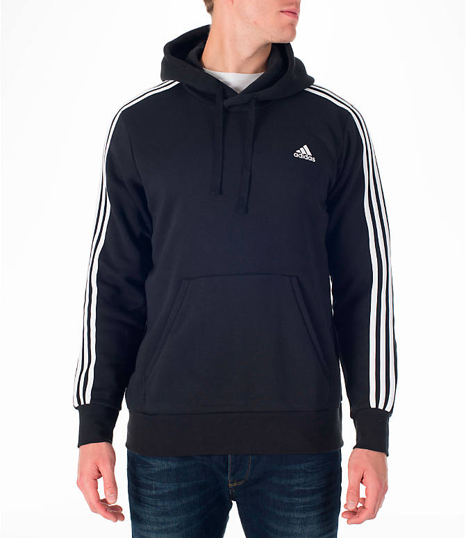 Front view of Men's adidas Badge of Sport Hoodie in Black/White