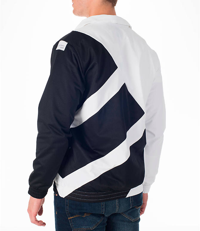 Back Left view of Men's adidas Originals EQT Superstar Track Jacket in White/Black