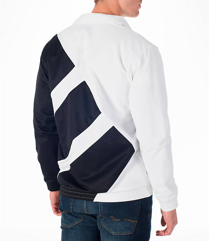 Back Right view of Men's adidas Originals EQT Superstar Track Jacket in White/Black