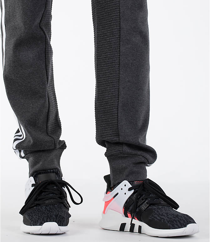 Detail 2 view of Men's adidas Curated Cuffed Jogger Pants in Heather Grey/White