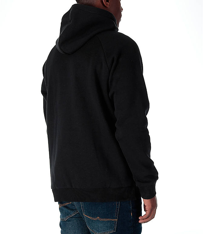 Back Right view of Men's adidas Originals Trefoil Hoodie in Black