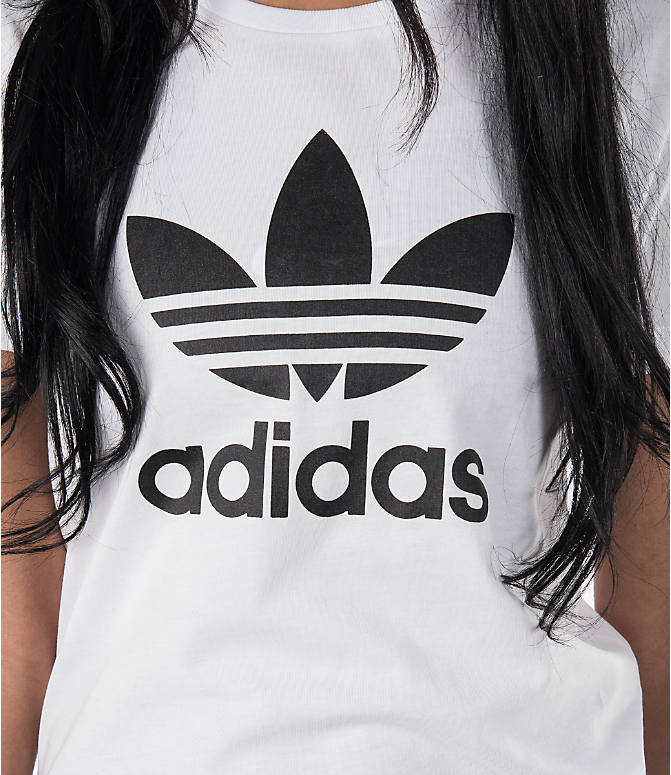 Detail 1 view of Women's adidas Originals Trefoil T-Shirt in White