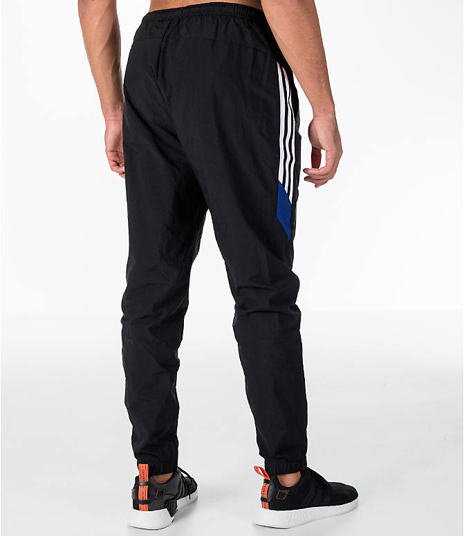 Back Right view of Men's adidas Originals St Pete Track Pants in Black