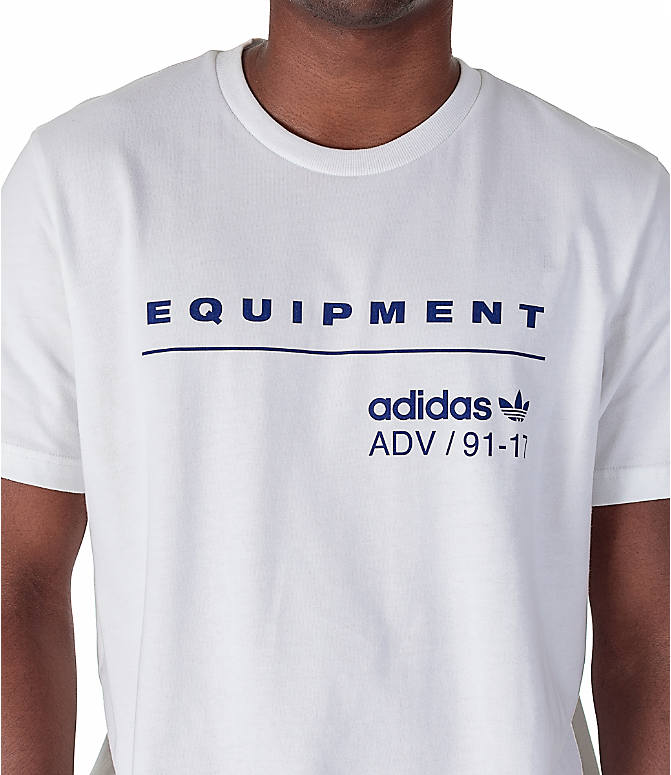Detail 1 view of Men's adidas Originals EQT PDX Classic T-Shirt in White