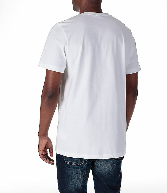 Back Left view of Men's adidas Originals EQT PDX Classic T-Shirt in White