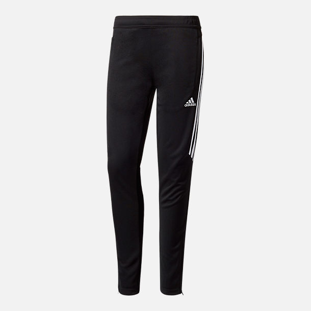 Front view of Boys' adidas Tiro Training Pants in Black/White
