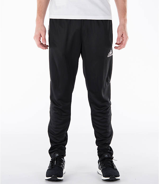 Front view of Men's adidas Tiro 17 Training Pants in Black/White