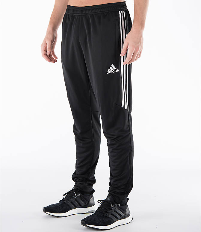 Front Three Quarter view of Men's adidas Tiro 17 Training Pants in Black/White
