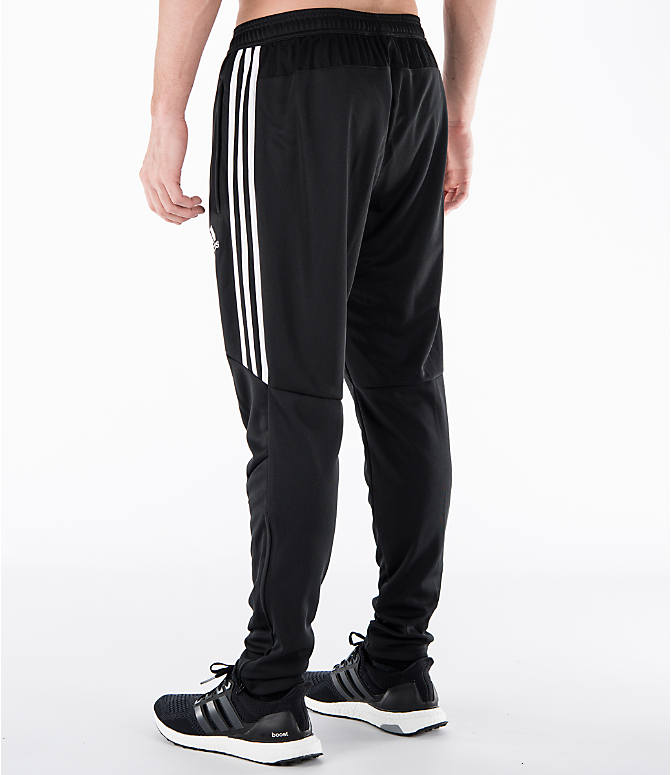 Back Left view of Men's adidas Tiro 17 Training Pants in Black/White