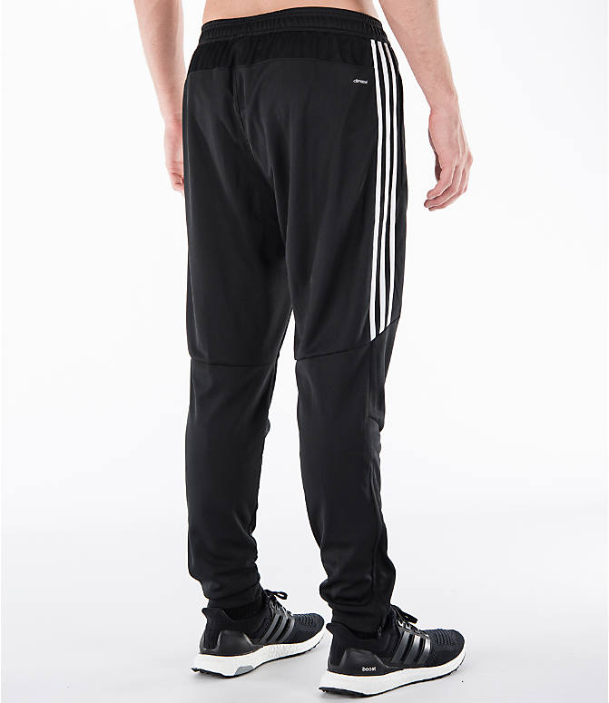 Back Right view of Men's adidas Tiro Training Pants in Black/White