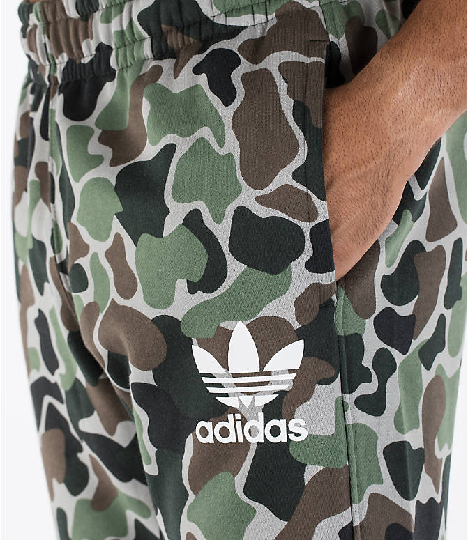 Detail 1 view of Men's adidas Camo Cuffed Jogger Pants in Camo/White