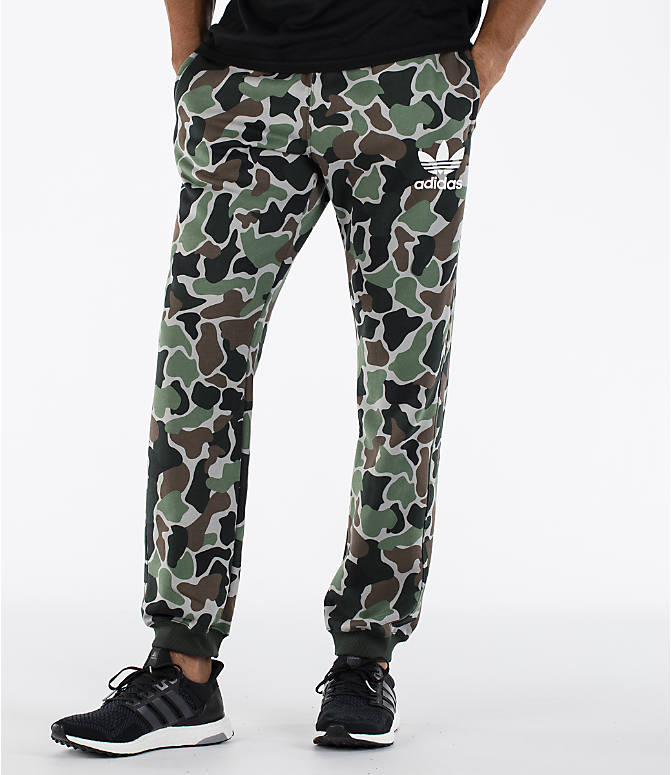 Detail 2 view of Men's adidas Camo Cuffed Jogger Pants in Camo/White