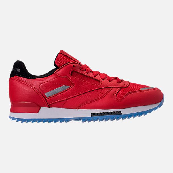Right view of Men's Reebok Classic Leather Ripple Low BP Casual Shoes in Primal Red/Asteroid Dust/Ice