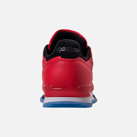 Back view of Men's Reebok Classic Leather Ripple Low BP Casual Shoes in Primal Red/Asteroid Dust/Ice