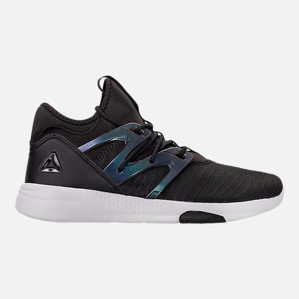 Right view of Women's Reebok Hayasu LTD Casual Shoes in Black/Oil Slick/White/Violet