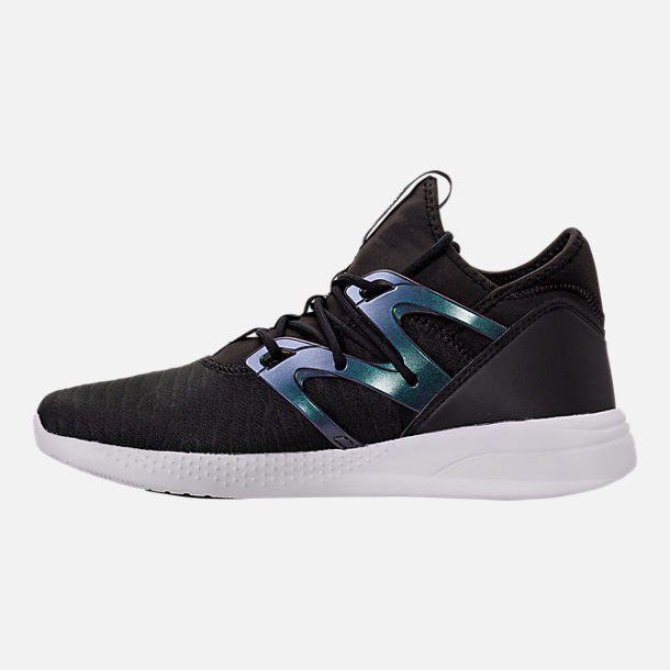Left view of Women's Reebok Hayasu LTD Casual Shoes in Black/Oil Slick/White/Violet