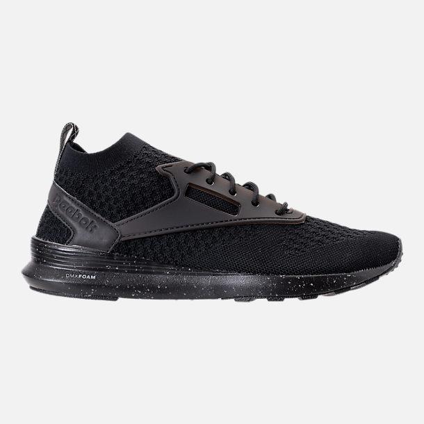 Right view of Mens Reebok Classic Zoku Runner Ultraknit Casual Shoes in  BlackFlint Grey
