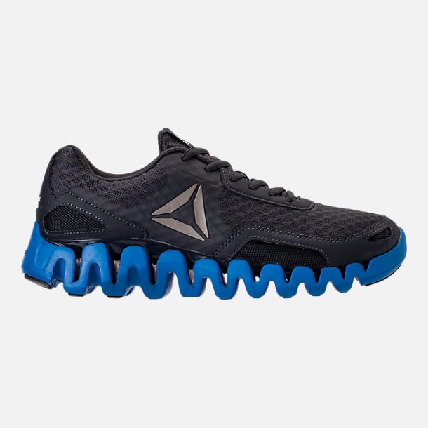 Right view of Men's Reebok Zig Evolution Running Shoes in Black/Blue