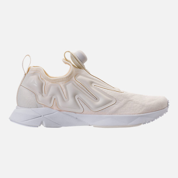 Right view of Men's Reebok Pump Supreme Running Shoes in Classic White/White