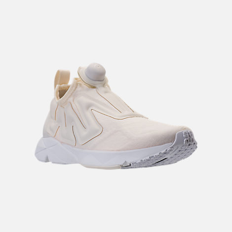 Three Quarter view of Men's Reebok Pump Supreme Running Shoes in Classic White/White
