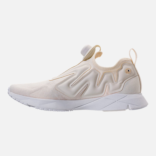 Left view of Men's Reebok Pump Supreme Running Shoes in Classic White/White