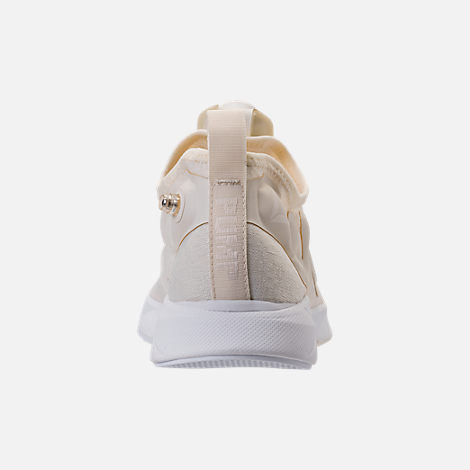Back view of Men's Reebok Pump Supreme Running Shoes in Classic White/White