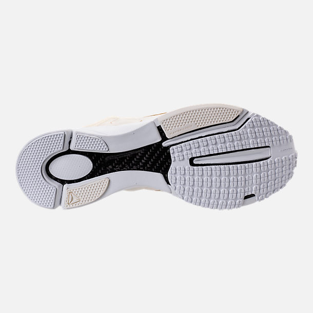 Bottom view of Men's Reebok Pump Supreme Running Shoes in Classic White/White