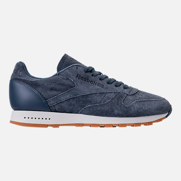 Right view of Men's Reebok Classic Leather SG Casual Shoes in Smoky Indigo/Chalk/Gum