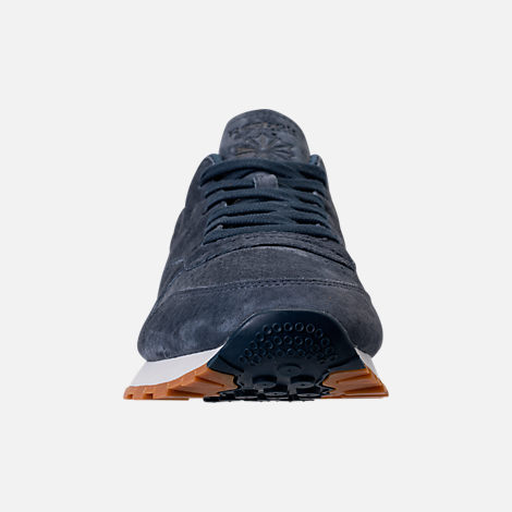 Front view of Men's Reebok Classic Leather SG Casual Shoes in Smoky Indigo/Chalk/Gum