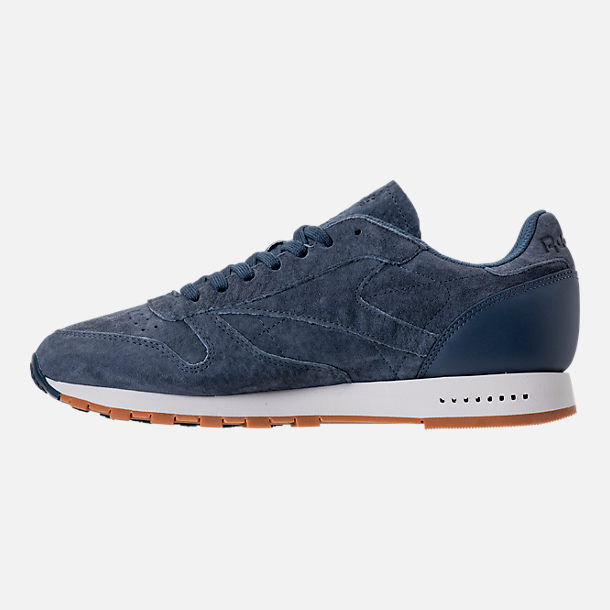 Left view of Men's Reebok Classic Leather SG Casual Shoes in Smoky Indigo/Chalk/Gum