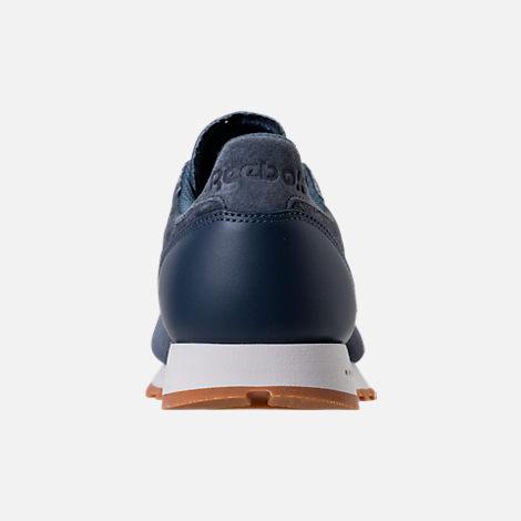 Back view of Men's Reebok Classic Leather SG Casual Shoes in Smoky Indigo/Chalk/Gum