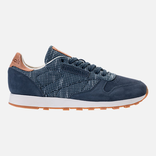 Right view of Men's Reebok Classic Leather EBK Casual Shoes in Smoky Indigo/Cloud Grey/Chalk/Gum