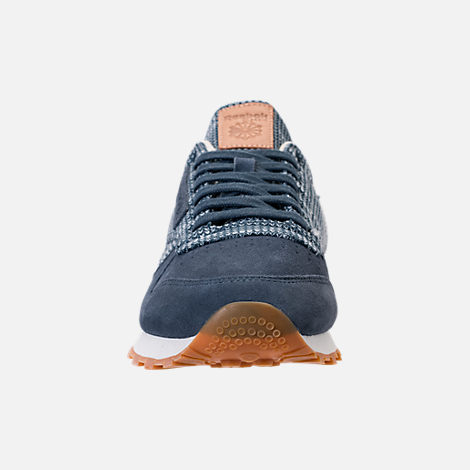 Front view of Men's Reebok Classic Leather EBK Casual Shoes in Smoky Indigo/Cloud Grey/Chalk/Gum