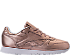 Women's Reebok Classic Leather Metallic Casual Shoes