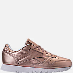 Women's Reebok Classic Leather Metallic Casual Shoes