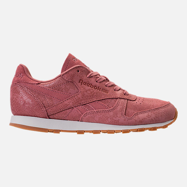 Right view of Women's Reebok Classic Leather Exotic Casual Shoes in Sandy Rose/Chalk/Gum
