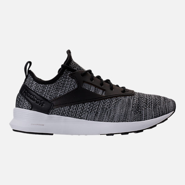 Right view of Men's Reebok Zoku Runner ISM Casual Shoes in Black/Flint Grey/Steel White